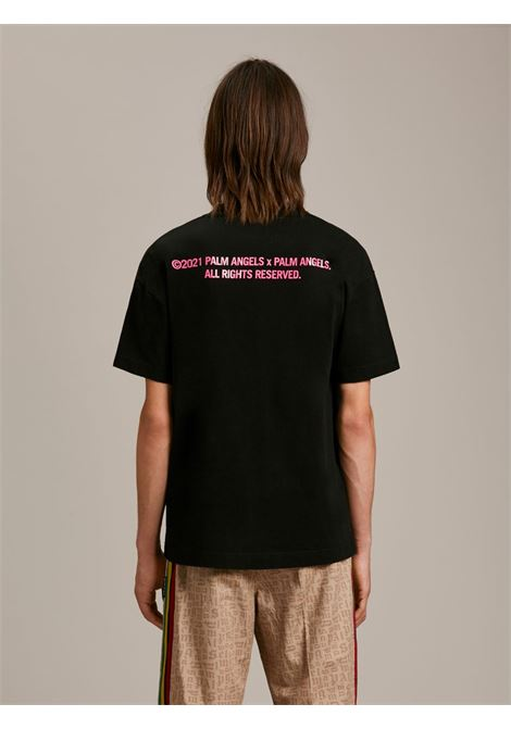 T-shirt nera PALM ANGELS | T-SHIRT | PMAA001S21JER0081032