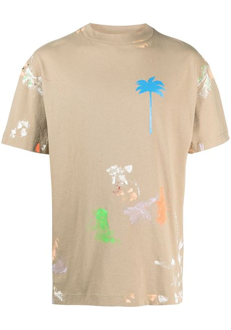 T-shirt beige PALM ANGELS | T-SHIRT | PMAA001S21JER0098540