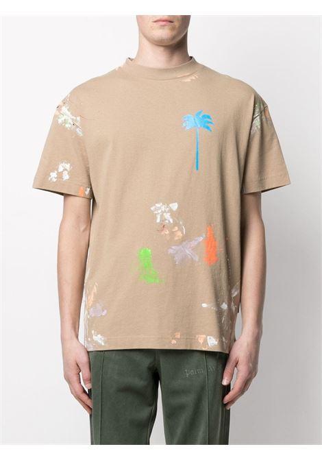 T-shirt beige PALM ANGELS | T-SHIRT | PMAA001S21JER0098540