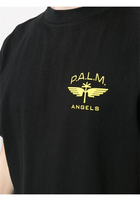 T-shirt nera PALM ANGELS | T-SHIRT | PMAA001S21JER0111018