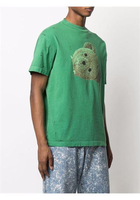 T-shirt verde PALM ANGELS | T-SHIRT | PMAA001S21JER0145510
