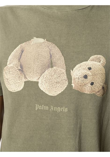 T-shirt verde PALM ANGELS | T-SHIRT | PMAA001S21JER0165601