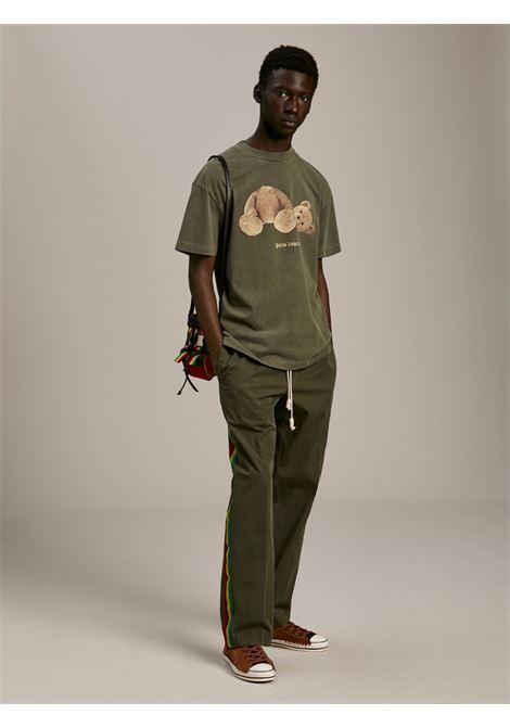 T-shirt verde PALM ANGELS | T-SHIRT | PMAA001S21JER0165601