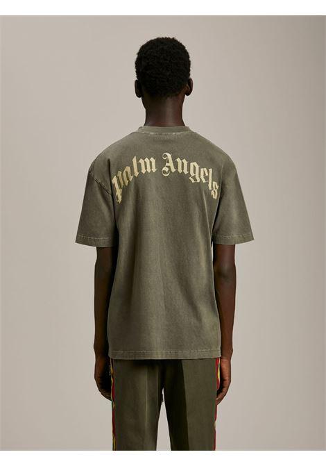 T-shirt verde PALM ANGELS   T-SHIRT   PMAA001S21JER0165601