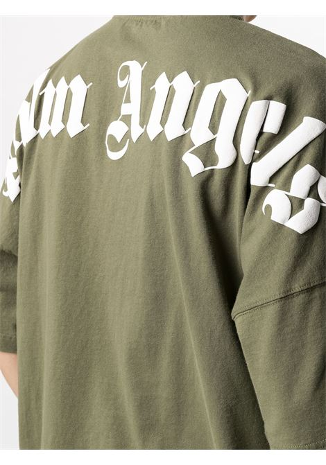 T-shirt verde PALM ANGELS | T-SHIRT | PMAA002S21JER0035601