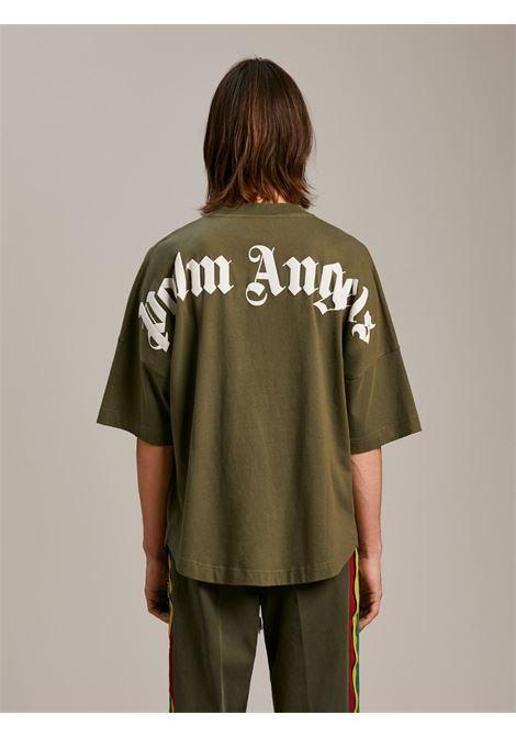 T-shirt verde PALM ANGELS | T-SHIRT | PMAA002S21JER0035601