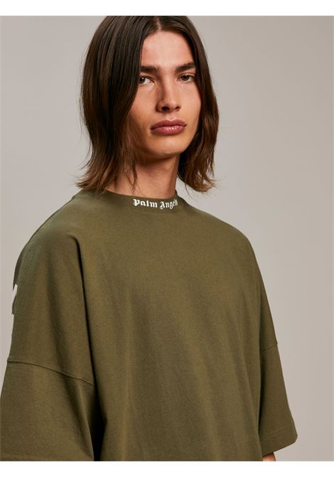 T-shirt verde PALM ANGELS   T-SHIRT   PMAA002S21JER0035601