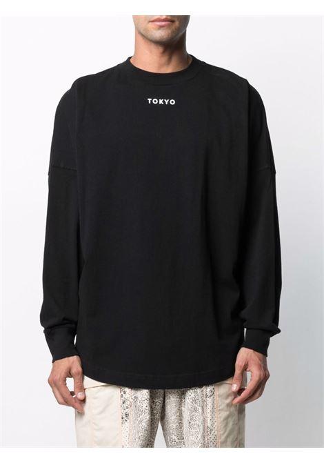 Black t-shirt PALM ANGELS | T-SHIRT | PMAB001S21JER0031025