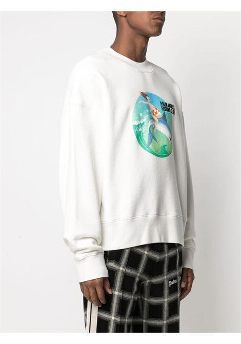 White sweatshirt PALM ANGELS | SWEATSHIRTS | PMBA026S21FLE0010444
