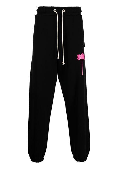 Pantalone nero PALM ANGELS | PANTALONI | PMCH011S21FLE0021032