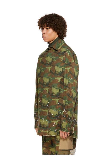 Camicia verde PALM ANGELS | CAMICIE | PMGA079R21FAB0038501