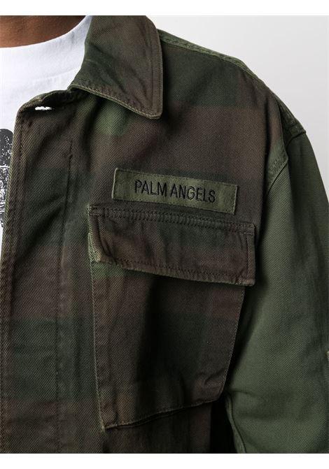 Giacca verde/marrone PALM ANGELS | GIACCHE | PMYE028S21DEN0015610