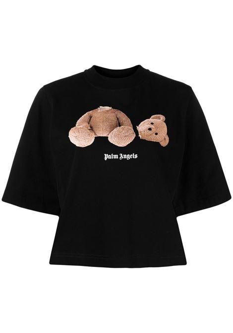 T-shirt nera PALM ANGELS | T-SHIRT | PWAA020S21JER0011060