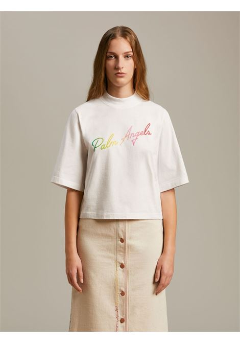 T-shirt bianca PALM ANGELS | T-SHIRT | PWAA020S21JER0030184