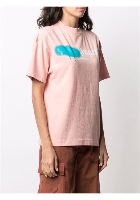 Pink t-shirt PALM ANGELS | T-SHIRT | PWAA039S21JER0073340