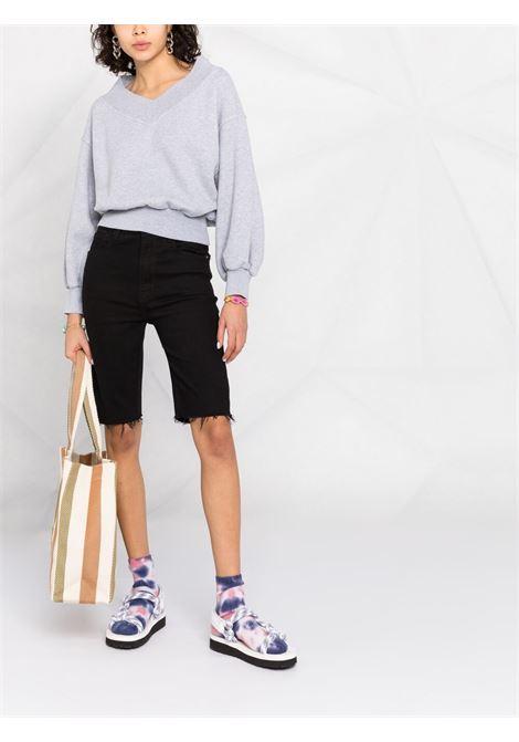 Grey sweatshirt PALM ANGELS |  | PWBA025S21FLE0030801