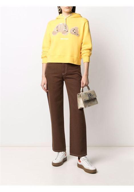 Yellow sweatshirt PALM ANGELS | SWEATSHIRTS | PWBB022S21FLE0011860