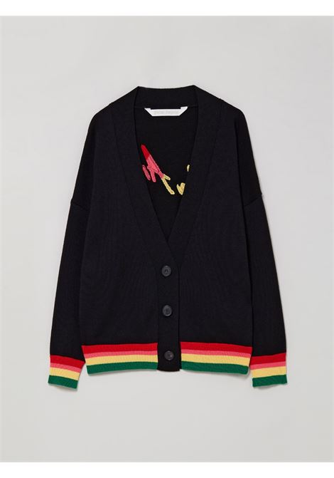 Cardigan nero PALM ANGELS | CARDIGAN | PWHB006S21KNI0031084