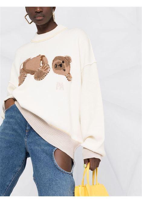 Maglione bianco PALM ANGELS | MAGLIONE | PWHE016S21KNI0020360
