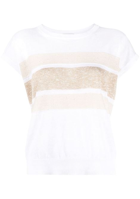 White/beige t-shirt PESERICO | T-SHIRT | S99480F12D9056D00