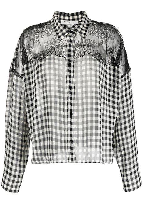 Camicia nera/bianca PHILOSOPHY di LORENZO SERAFINI | CAMICIE | 02217291555