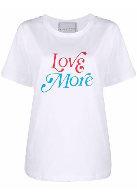 White t-shirt PHILOSOPHY di LORENZO SERAFINI | 07027462
