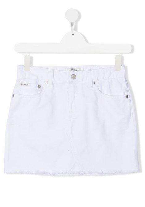 White skirt POLO RALPH LAUREN KIDS | 313832177001