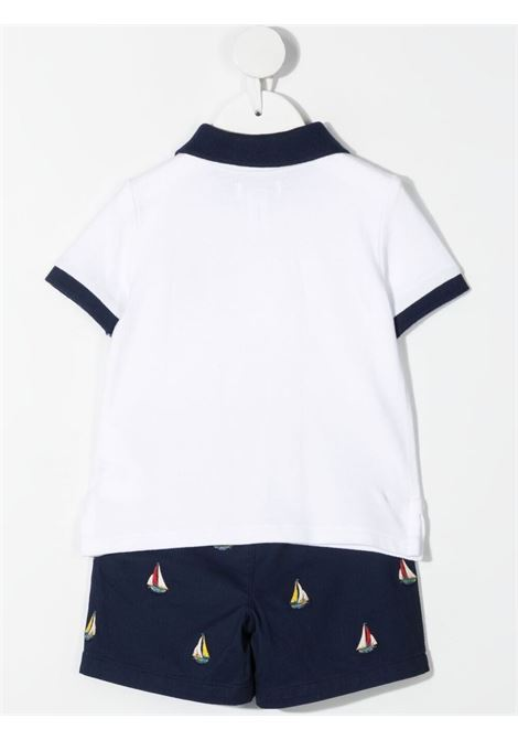Completo bianco/blu POLO RALPH LAUREN KIDS | SHORTS | 320840884001