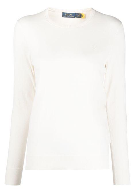 Maglione bianco POLO RALPH LAUREN | MAGLIONE | 211827537001