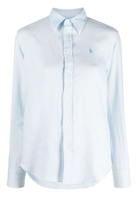 Camicia blu POLO RALPH LAUREN | CAMICIE | 211827658007