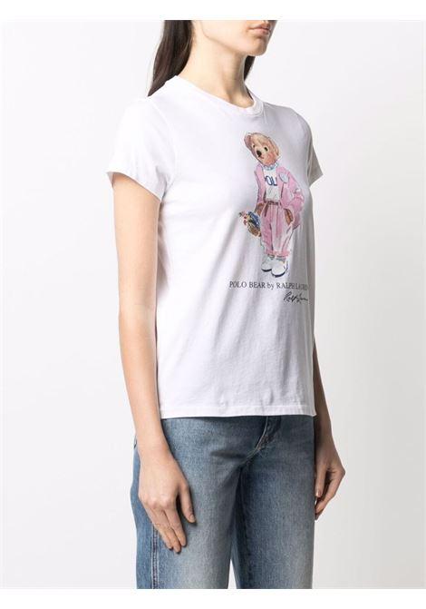 T-shirt bianco POLO RALPH LAUREN | T-SHIRT | 211838100001
