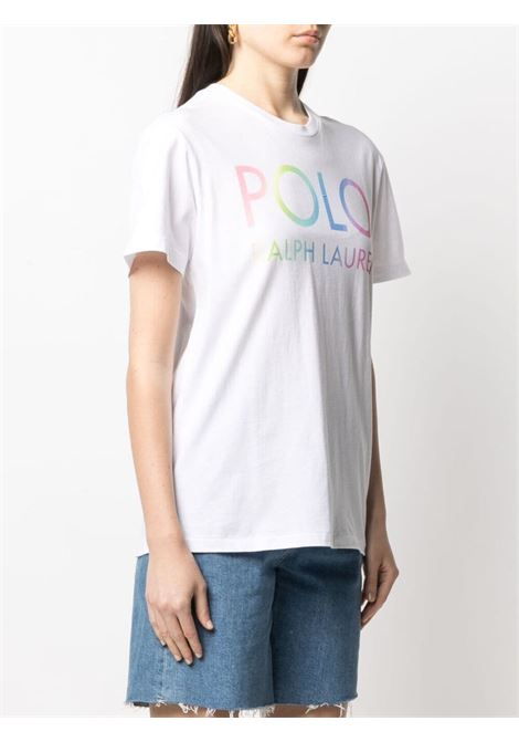 T-shirt bianca POLO RALPH LAUREN | T-SHIRT | 211838144001