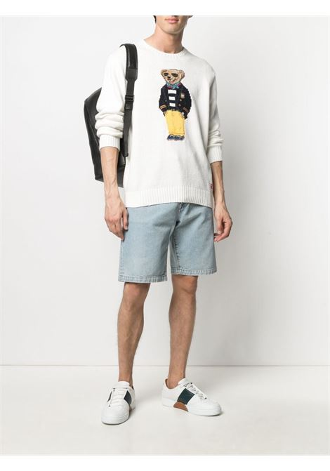 Maglione bianco POLO RALPH LAUREN | MAGLIONE | 710834686001