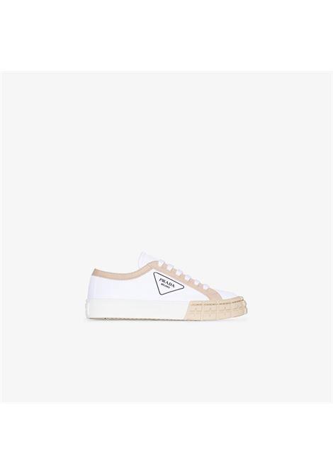 Sneakers bianca/marrone PRADA | SNEAKERS | 1E939LF03589CF074A
