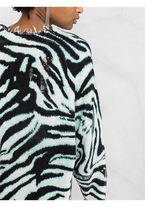 Black/blue jumper R13 | SWEATER | R13W936555BZ