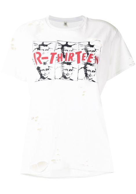 T-shirt bianca R13 | T-SHIRT | R13W937043830