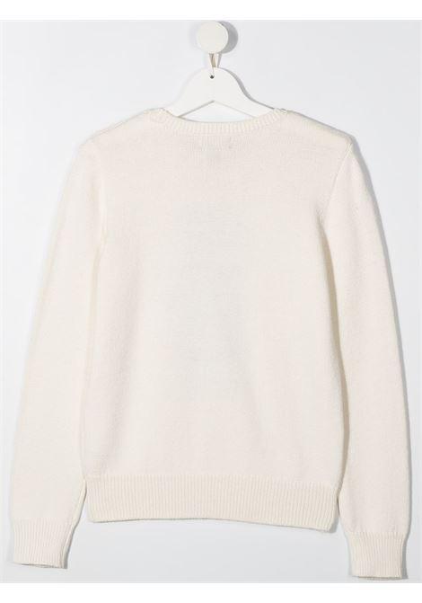 White jumper POLO RALPH LAUREN KIDS | SWEATER | 313834981X001