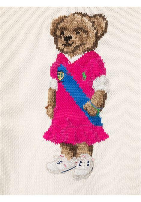 Maglione bianco POLO RALPH LAUREN KIDS | MAGLIONE | 313834981X001