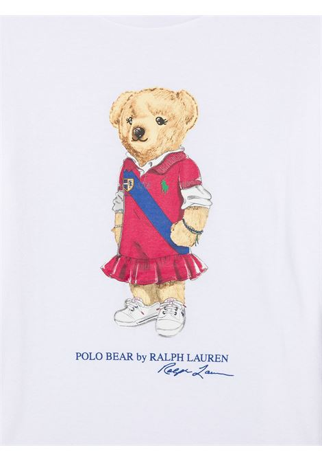 T-shirt bianca POLO RALPH LAUREN KIDS | T-SHIRT | 313838265X001