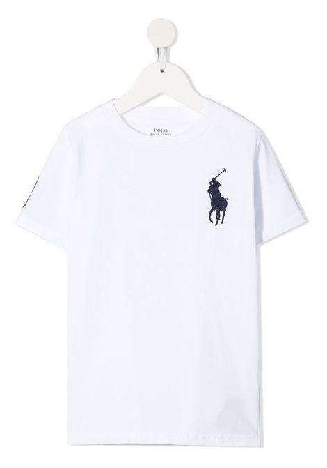 T-shirt bianca POLO RALPH LAUREN KIDS | T-SHIRT | 321832907017