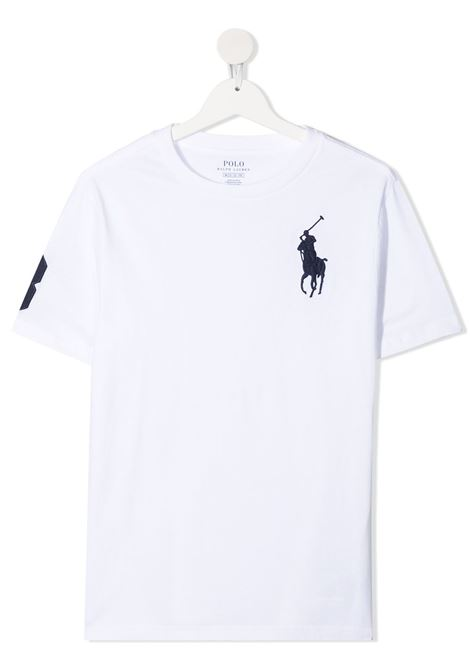 T-shirt bianco POLO RALPH LAUREN KIDS | T-SHIRT | 323832907017