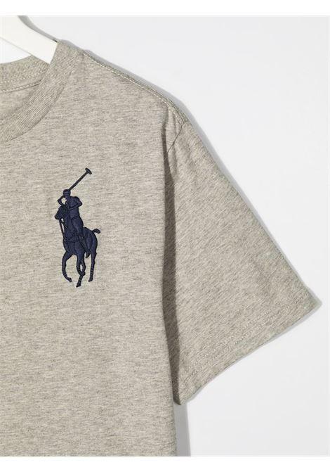 T-shirt grigia POLO RALPH LAUREN KIDS   T-SHIRT   323832907021