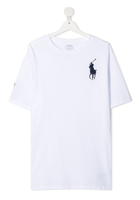 T-shirt bianco POLO RALPH LAUREN KIDS | T-SHIRT | 323832907X017