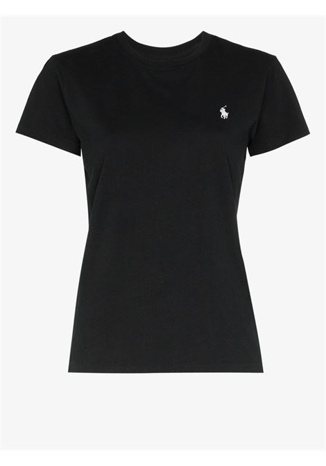 T-shirt nera POLO RALPH LAUREN | T-SHIRT | 211734144003