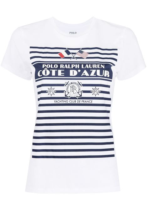 T-shirt bianca POLO RALPH LAUREN | T-SHIRT | 211827904001