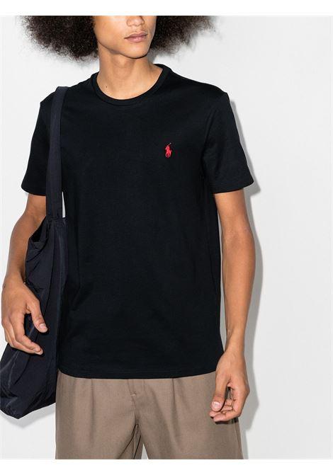 T-shirt nera POLO RALPH LAUREN | 710680785001
