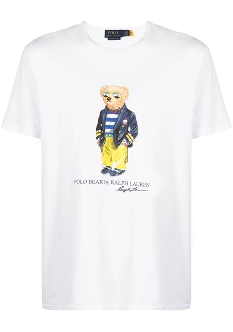 T-shirt bianca POLO RALPH LAUREN | T-SHIRT | 710837306002