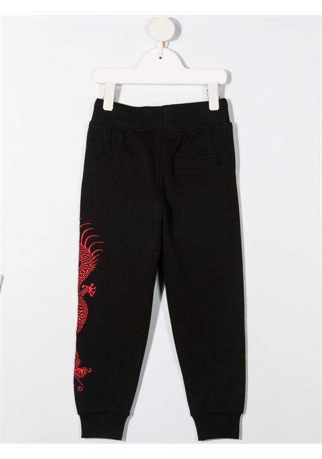 Pantalone nero/rosso RICHMOND KIDS | PANTALONI | RBP21057PALSBLACK
