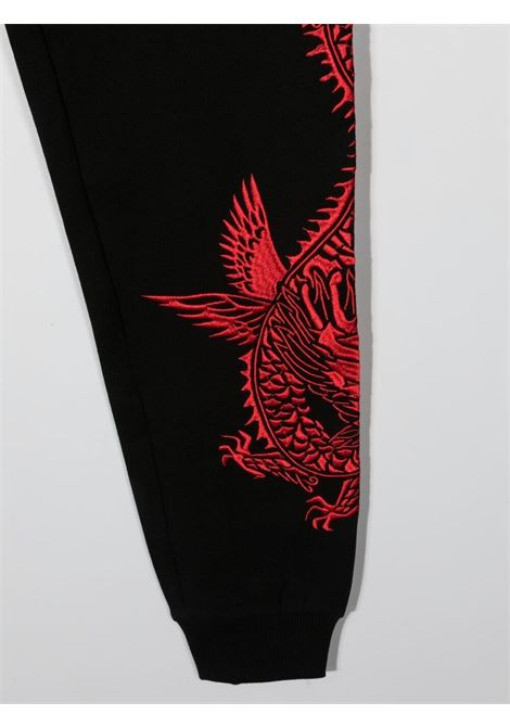 Pantalone nero/rosso RICHMOND KIDS | PANTALONI | RBP21057PALSTBLACK