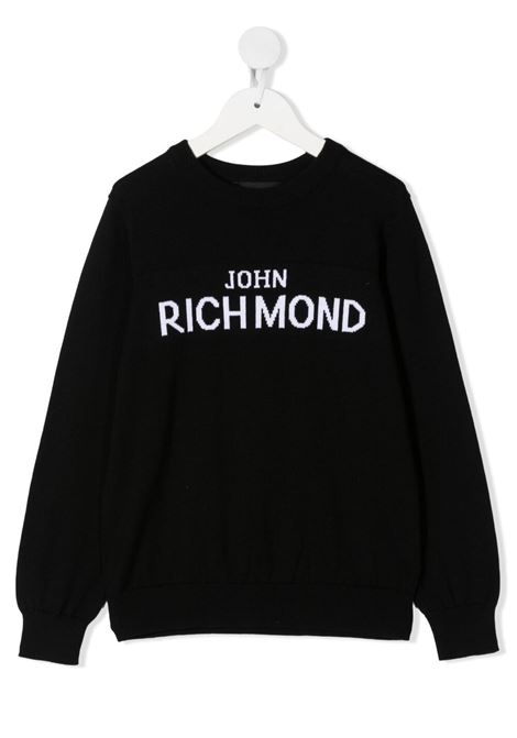 Felpa RICHMOND KIDS | MAGLIONE | RBP21066MAOSBLACKWHT